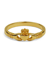 Slender Claddagh 18KGOLD Plating