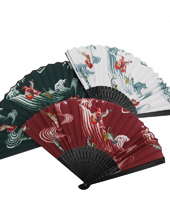 """Hummingbird"" Folding Fan"