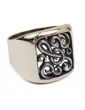G clef Arabesque Ring