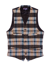 Plaid Tweed Vest