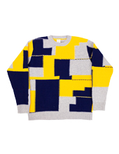 Country of Origin Intersia Patchwork Knit