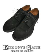 KIDS LOVE GAITE KLG-21SS01 Suede/Patent Long Wing